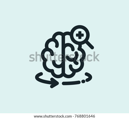 AR health icon isolated on clean background intelligence concept drawing augmented reality icon in modern style AR health icon vector illustration for your web site mobile logo app UI design.