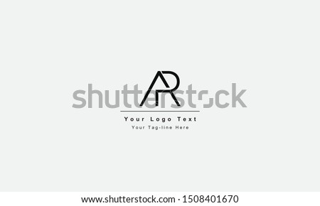 AR or RA letter logo. Unique attractive creative modern initial AR RA A R initial based letter icon logo Stock fotó ©