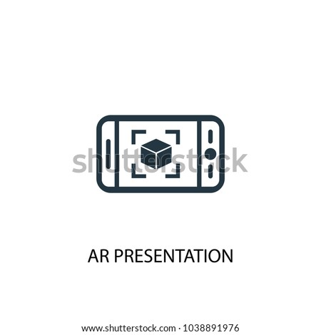 AR presentation icon. Simple element illustration. AR presentation concept symbol design from Augmented reality collection. Can be used for web and mobile.