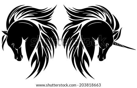 Horse Head Logos Arab Horse Head And Unicorn