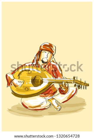 Arab musician with instrument