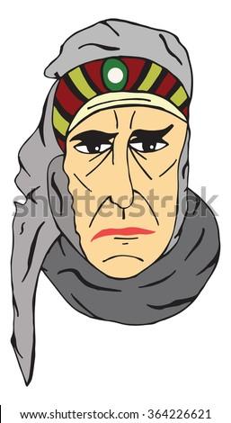Arab vector illustration