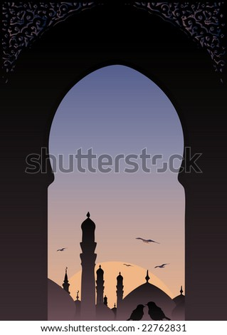 stock-vector-arab-window-view-islamic-skyline-with-romantic-birds-22762831.jpg