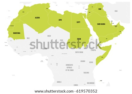 arab world states political map