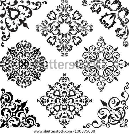 Arabesque set isolated on white