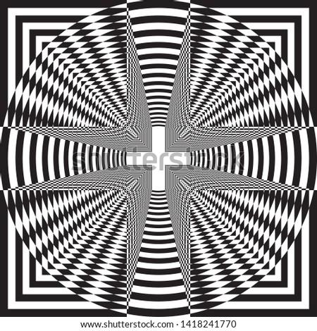 arabesque target tridimensional