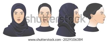 arabian muslim woman wearing