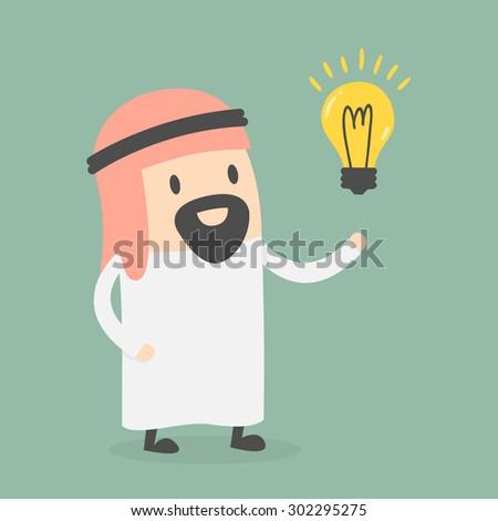 arabic businessman get an idea