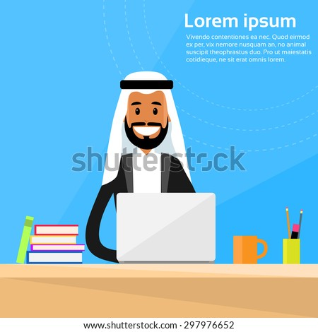 arabic businessman sitting