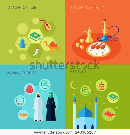 arabic culture design concept