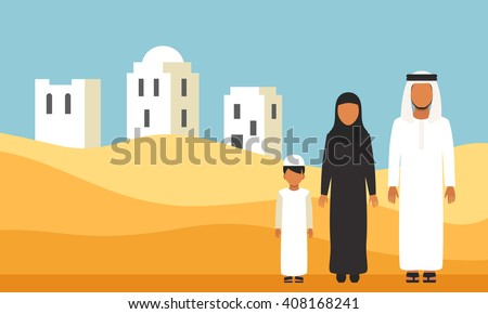 arabic family in traditional