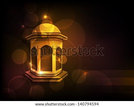 Arabic lamp on shiny abstract background for Ramadan Kareem. #140794594
