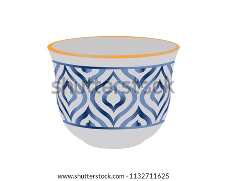 Arabic Lebanese Turkish Coffee Cup - Vector Illustration Isolated Icon