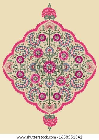Arabic ornament background Oriental ethnic mandala amulet Abstract floral geometric pattern Geometric circle element for holiday, kaleidoscope, medallion, yoga, Indian, Arabic design Stock photo ©