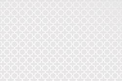 Arabic pattern background. Islamic White ornament vector. Geometric 3D shape. Texture Arabian traditional motif - Vector