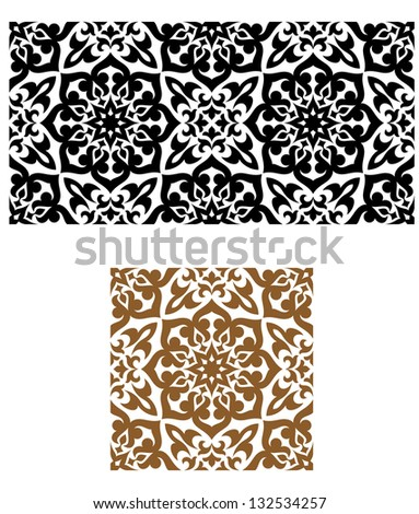 Arabic seamless ornament in retro style for background design. Jpeg (bitmap) version also available in gallery