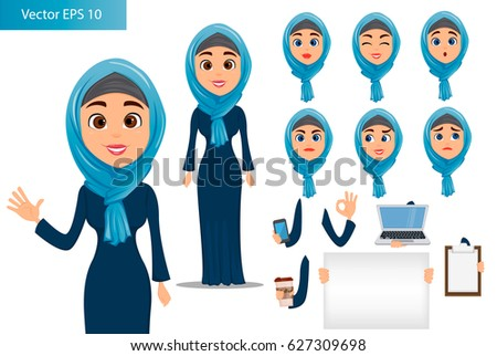 arabic woman constructor set