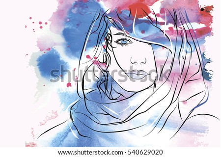 arabic woman portrait