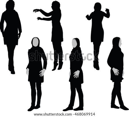 arabic woman silhouette in