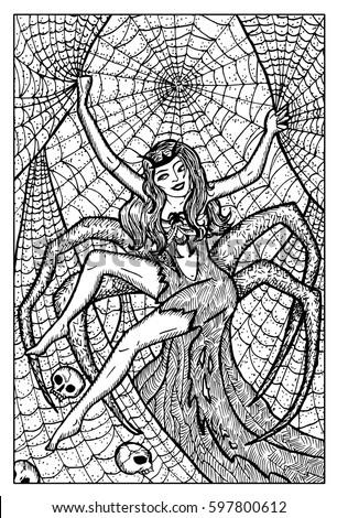 arachne spider woman hand