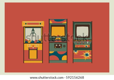 arcade game machines and claw