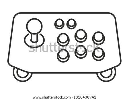 Arcade joystick controller line art icon for apps or website