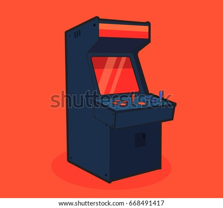 arcade machine cartoon gaming
