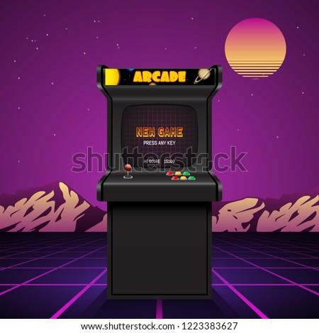 arcade machine screen  retro