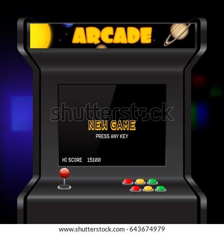 arcade machine screen  vector