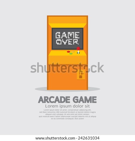 arcade machine vector