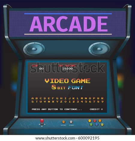 arcade video game font 8 bit
