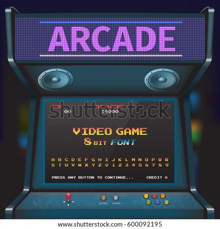 arcade video game font 8 bit