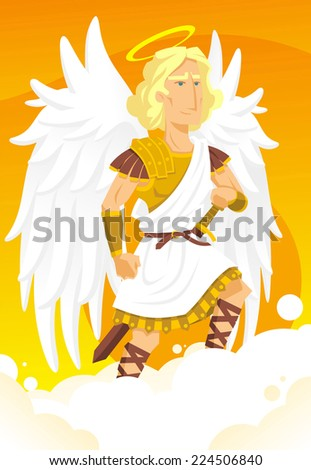 arch angel gabriel cartoon