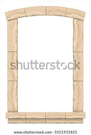 arch in the wall of beige cut