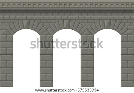 arch in the wall of white cut...