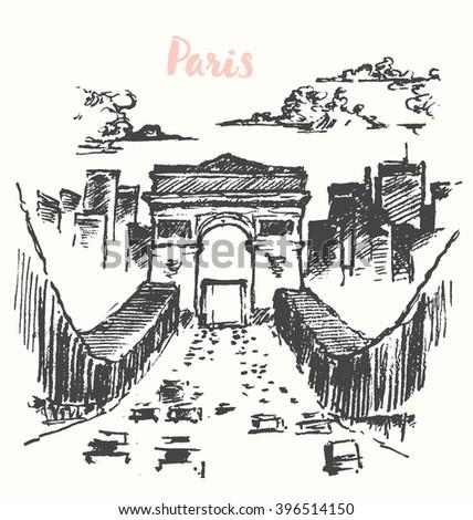 arch of triumph  paris  france  ...