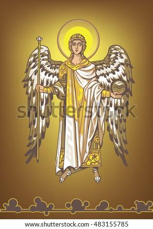 archangel gabriel on a gold
