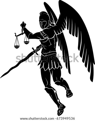 archangel with judgement scale