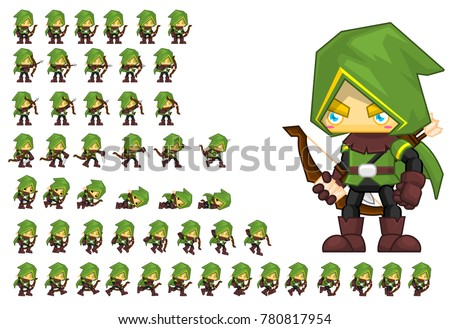 archer animated character for