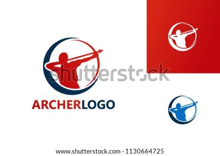 archer logo template design
