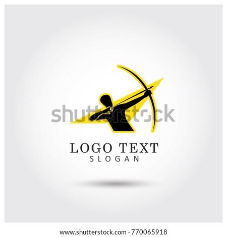 archer logo vector icon template