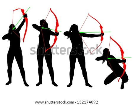 archer silhouettes