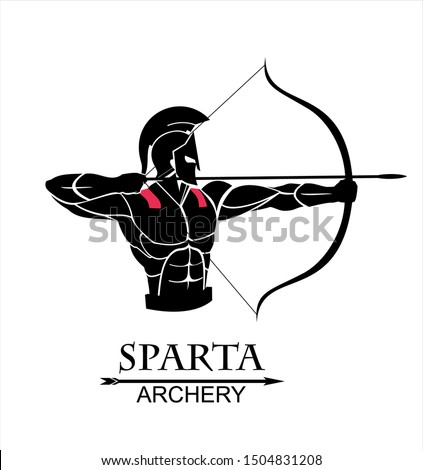 archer sparta, trojan warrior with the arch, warrior archery
