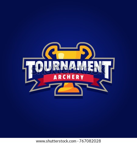 Archery Tournament Logo Sport