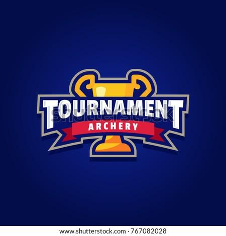 Archery Tournament Logo Sport