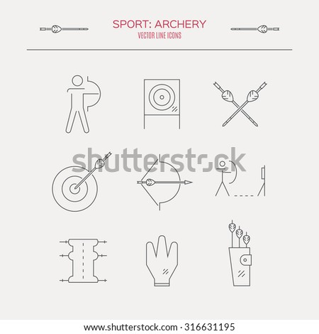 archery vector icons and