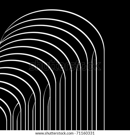 Arches gallery. Abstract architectural background. Vector illustration.
