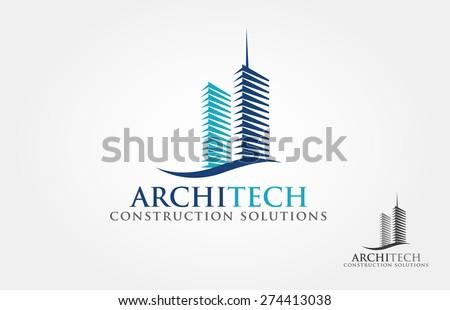 Architect Construction Idea -  vector logo