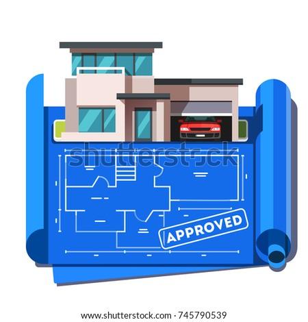 architect floor plan blueprint