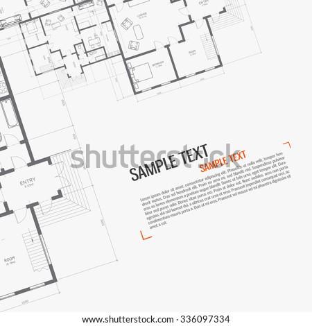 Architectural background. Blueprint.
